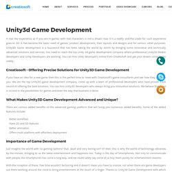 Unity3d Game Development - Creatiosoft Solutions Private Limited