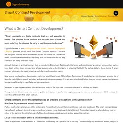 Smart Contract Development - Crypto Softwares CryptoSoftwares.com