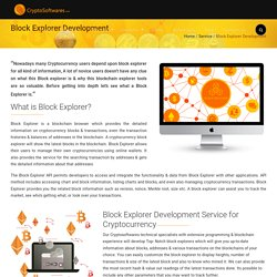 Block Explorer Development - Crypto Softwares CryptoSoftwares