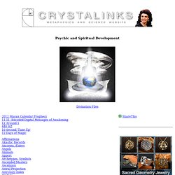 Psychic and Spiritual Development