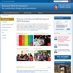 Research Skill Development for curriculum design and assessment