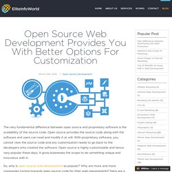 Open Source Web Development Provides You With Better Options For Customization