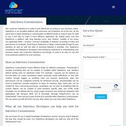 Salesforce App Development Salesforce Customization Services