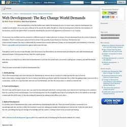 Web Development: The Key Change World Demands by Web Panel Solutions