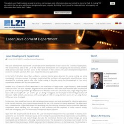 Laser Development Department
