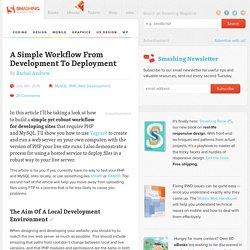 A Simple Development to Deployment Workflow