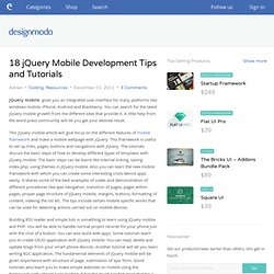18 jQuery Mobile Development Tips and Tutorials