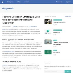 Feature Detection Strategy: a wise web development thanks to Modernizr