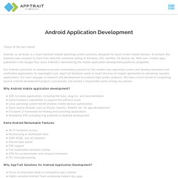 Android app development company india, Hire Android developer - Apptrait Solutions