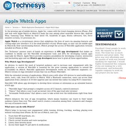 iWatch app developers - Dev Technosys