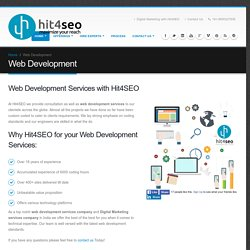 Web Development Services Company Hire Developers Hit4SEO