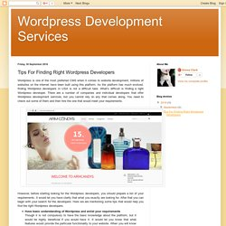 Tips For Finding Right Wordpress Developers
