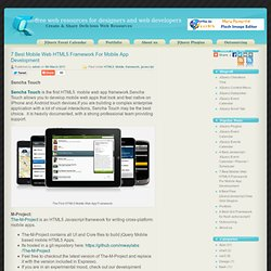 7 Best Mobile Web HTML5 Framework For Mobile App Development
