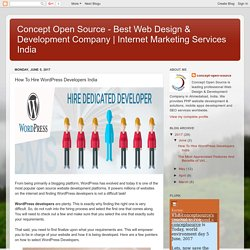 How To Hire WordPress Developers India?
