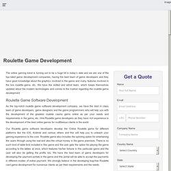 Roulette Casino Game Development Company