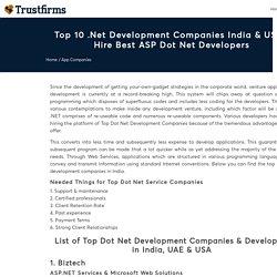 Top .Net Development Companies in India & USA