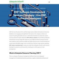 Hire ERP Software Developers - Adequate Infosoft