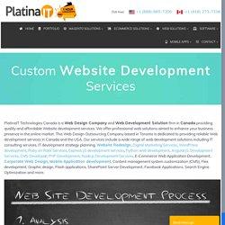 Custom Website Development Services Toronto Canada