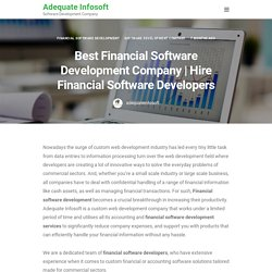 Hire Financial Software Developers - Financial Software Development