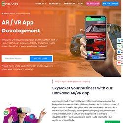 Augmented Reality & Virtual Reality App Development Company