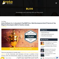 Arete Software Inc. Is Awarded A Top B2B Firms