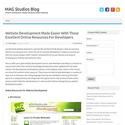 Website Development Made Easier With These Excellent Online Resources For Developers