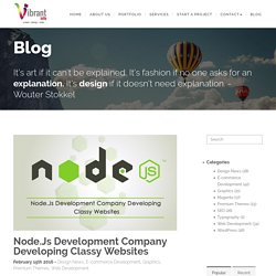 Node.Js Development Company Developing Classy Websites -
