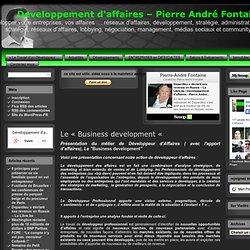 """Le """"Business development """" - Développeur d'Affaires"""