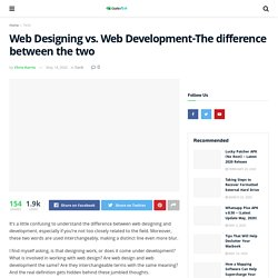 Web Designing vs. Web Development-The difference between the two