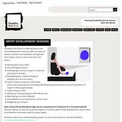 Artist Development Sessions - Disability Arts Online