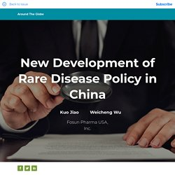 New Development of Rare Disease Policy in China