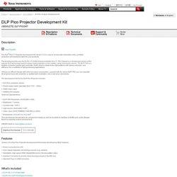 DLP Pico Projector Development Kit - DLP1PICOKIT - TI Tool Folder (Obsolete)