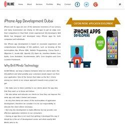 Iphone App Development Dubai - dubaibrillmindz