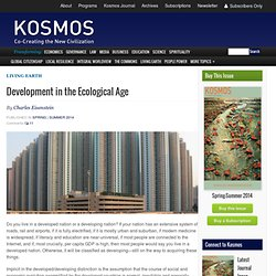 Development in the Ecological Age