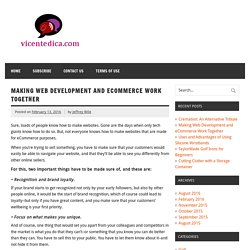 Making Web Development and eCommerce Work Together