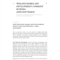 How does Ionic Mobile app Development prove to be Cost-efficient? - Appic Softwares