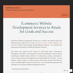 Custom eCommerce Website Design & Development Solutions