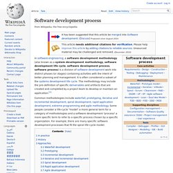 Software development process - Wikipedia,