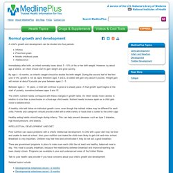 Normal growth and development: MedlinePlus Medical Encyclopedia
