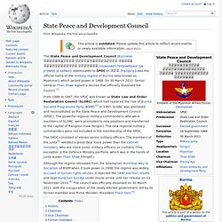 State Peace and Development Council