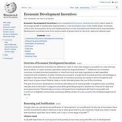 Economic Development Incentives