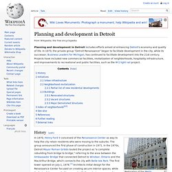 Planning and development in Detroit