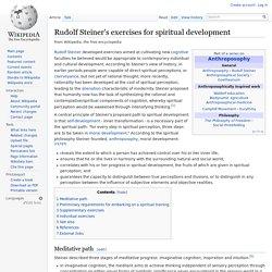 Rudolf Steiner's exercises for spiritual development