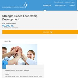 Strength-Based Leadership Development
