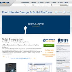 UML tools for software development and modelling - Enterprise Architect UML modeling tool