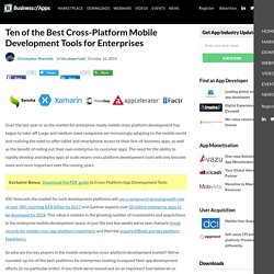 Ten of the Best Cross-Platform Mobile Development Tools for Enterprises - App Industry Insights