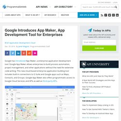 Google Introduces App Maker, App Development Tool for Enterprises
