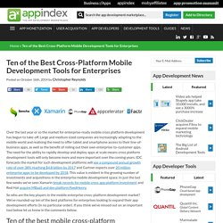 Ten of the Best Cross-Platform Mobile Development Tools for Enterprises - App Development Marketplace