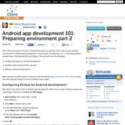 Android app development 101: Preparing environment part 2