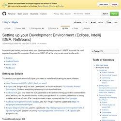 Setting up your Development Environment (Eclipse, Intellij IDEA, NetBeans) · libgdx/libgdx Wiki